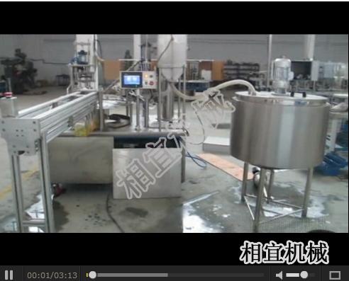 自立袋灌装旋盖机视频