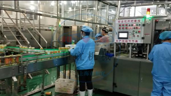 果汁茶包装生产现场