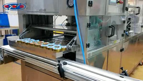 波兰铝杯8杯灌装封口机