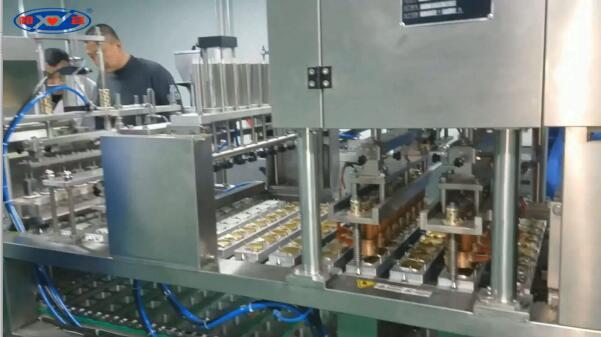 8杯铝杯粉剂灌装封口机