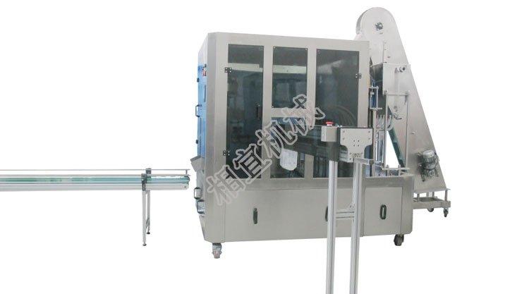 自立袋高速连续式旋盖灌装封口机